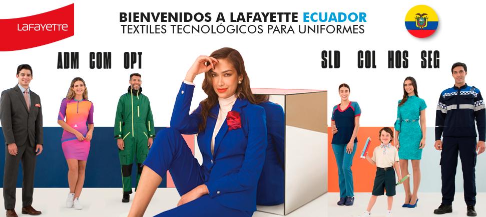 Telas para uniformes en Ecuador